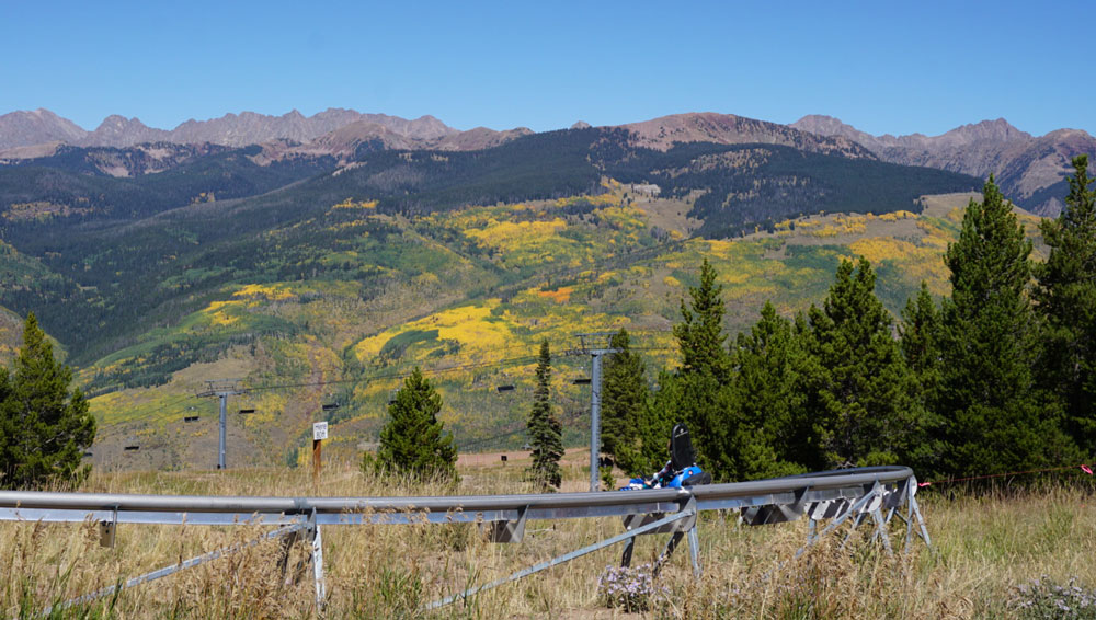 Vail's alpine coaster in fall