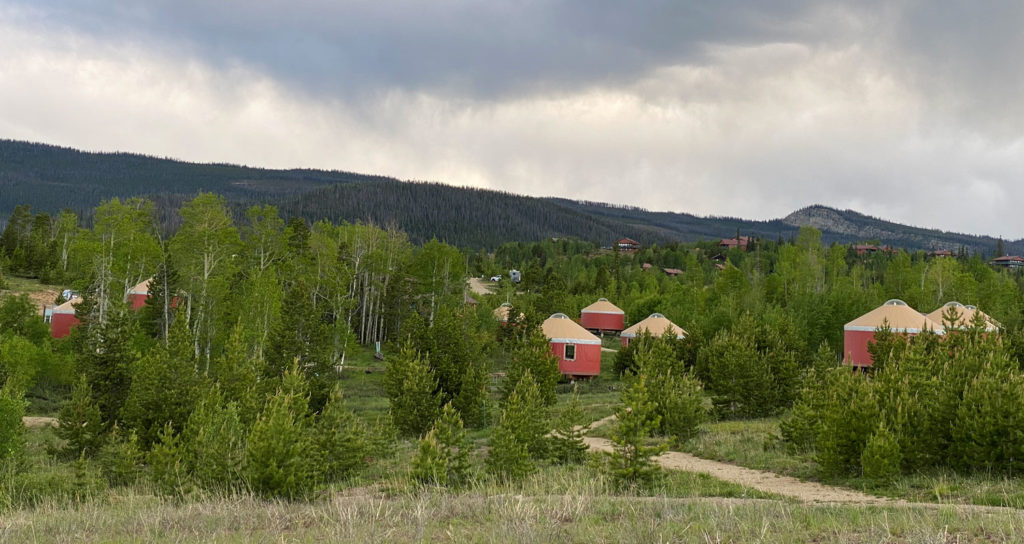 Colorado glamping at its best with a yurt village at snow mountain ranch