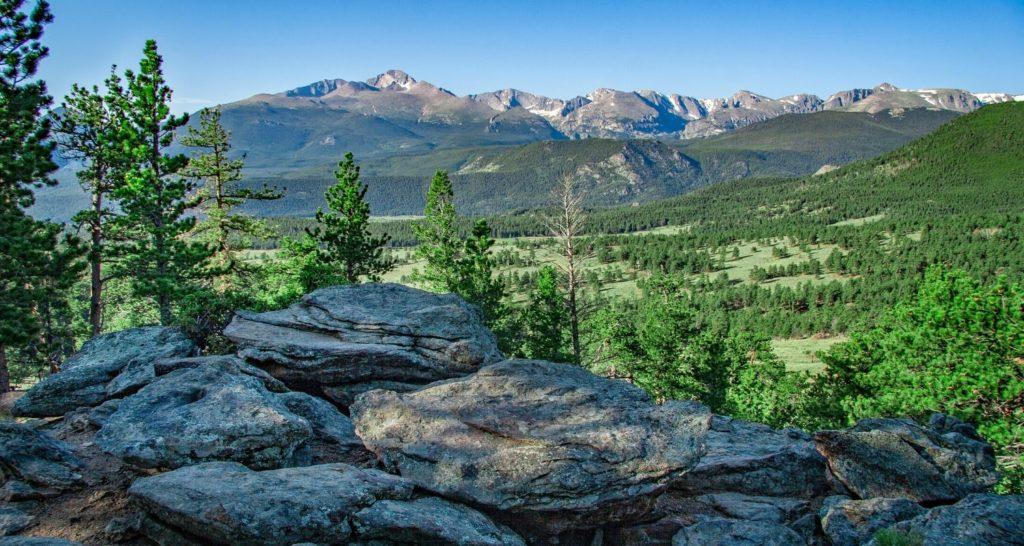 Longs Peak from Rocky Mountain National Park