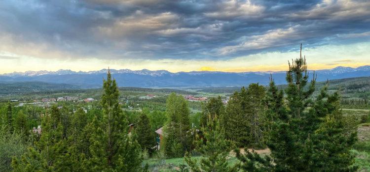 mountain views from Colorado glamping site Snow Mountain Ranch