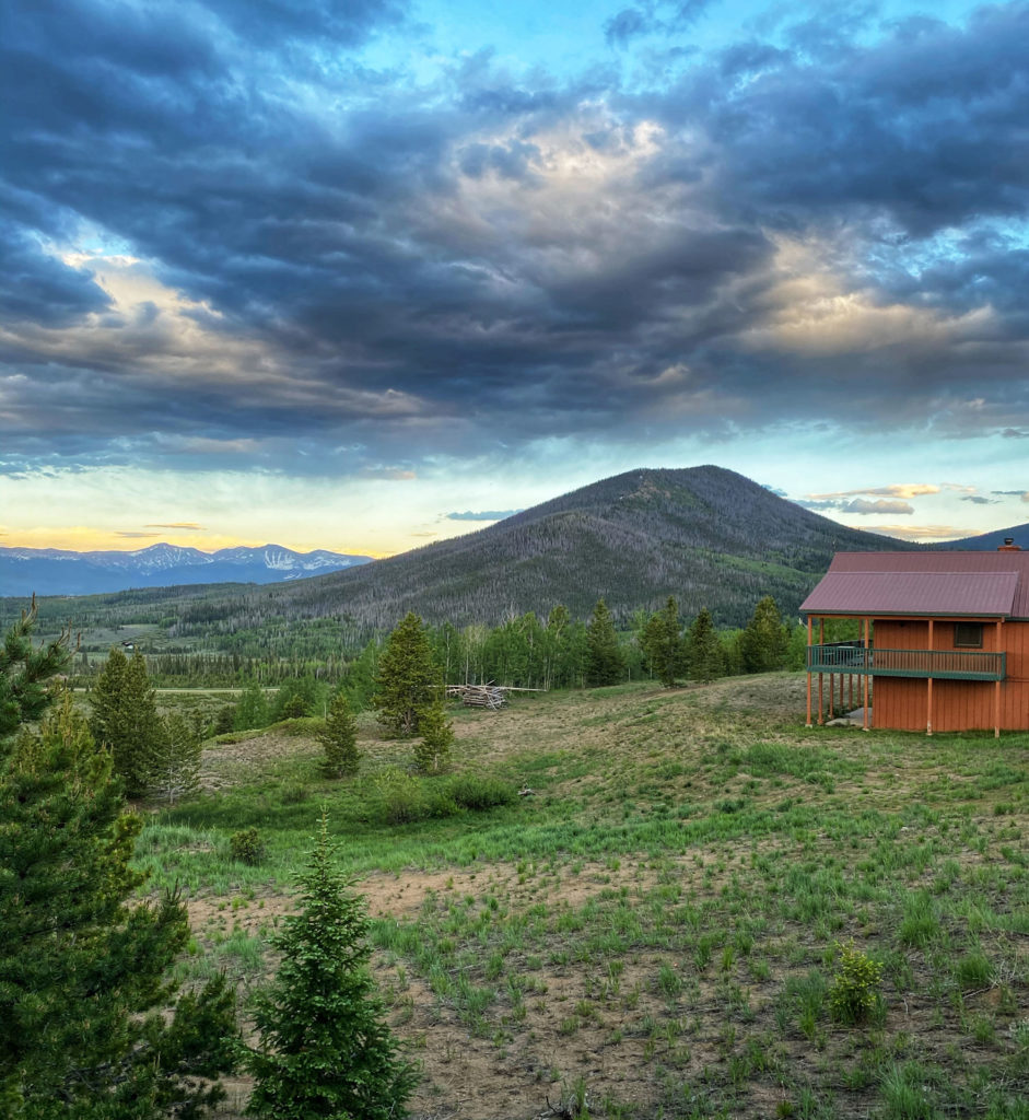 A cabin with views at YMCA of the Rockies Snow Mountain Ranch