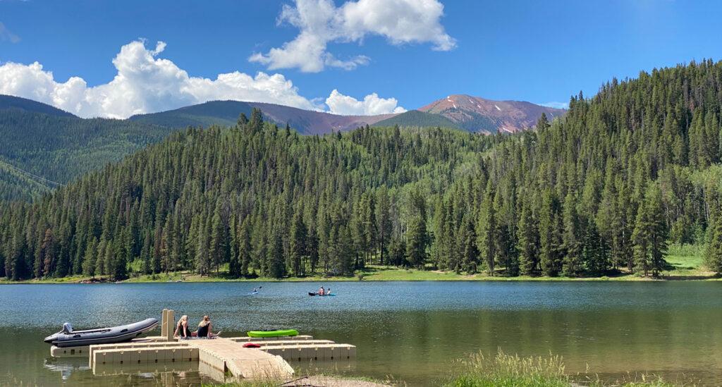 Sylvan Lake, one of many beautiful lakes in Colorado