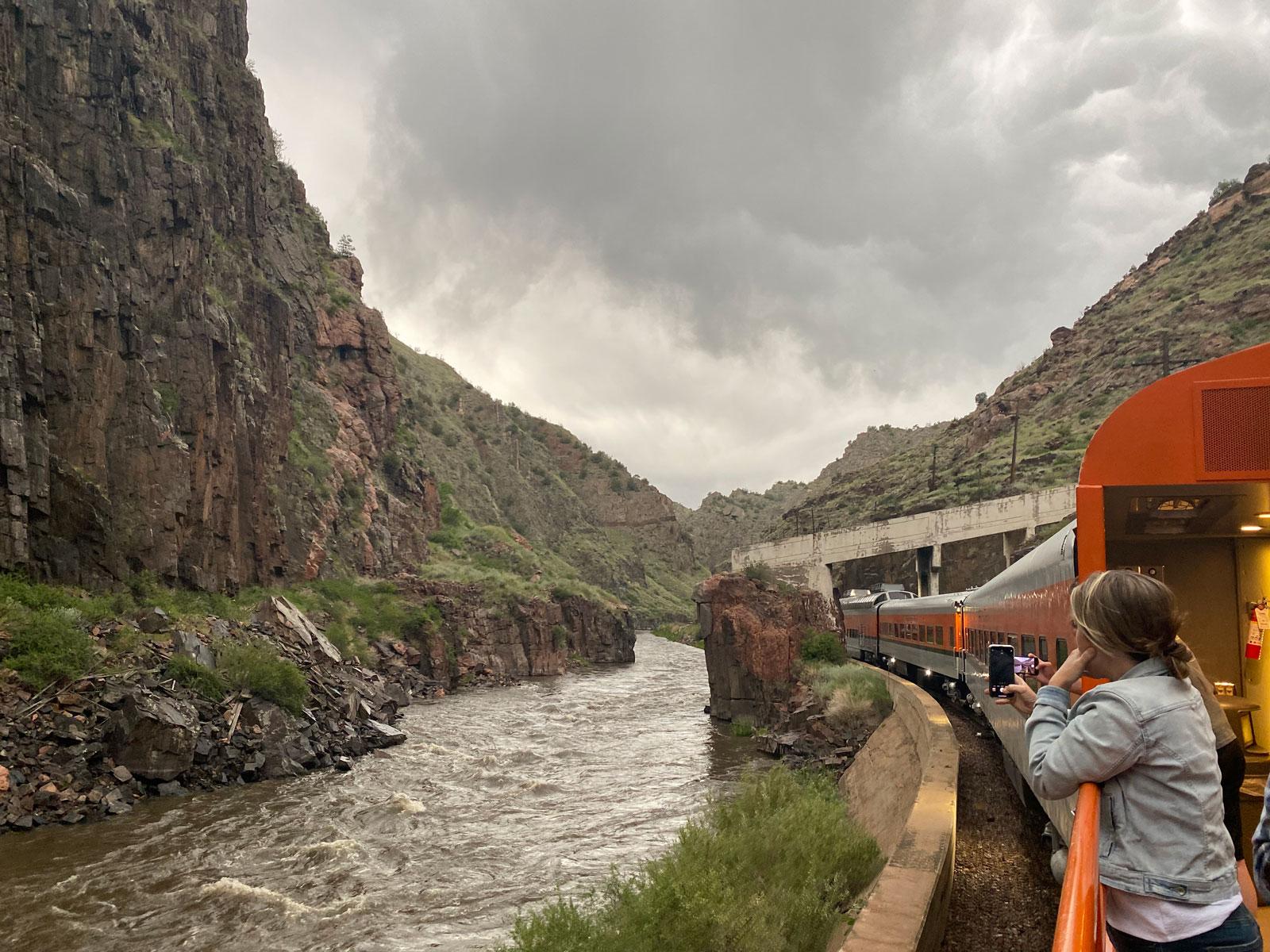 royal gorge route railroad on the arkansas river