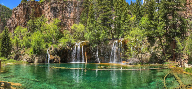 Hanging Lake on one of the most spectacular of Colorado waterfalls