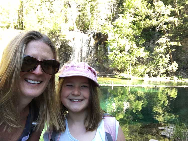 Hanging Lake, one of the best known of Colorado waterfalls