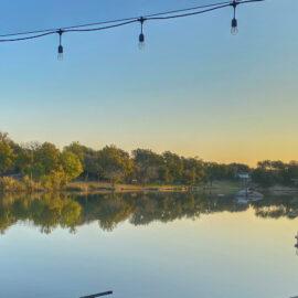 sunrise on lake lbj in texas