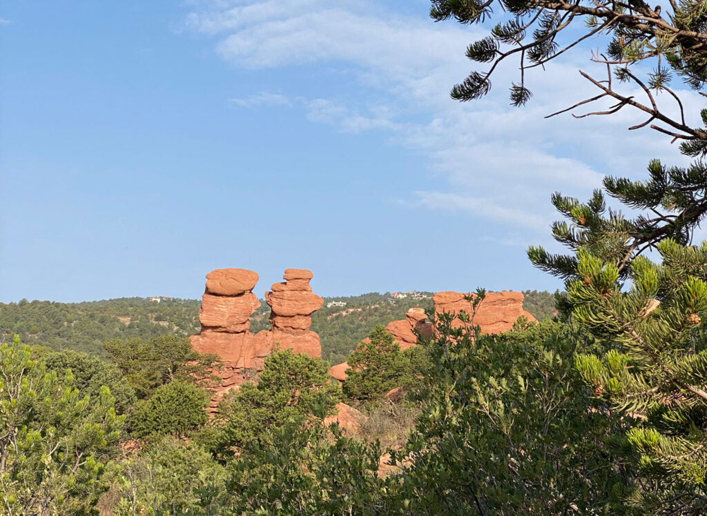 siamese rocks trail at garden of the gods in colorado springs