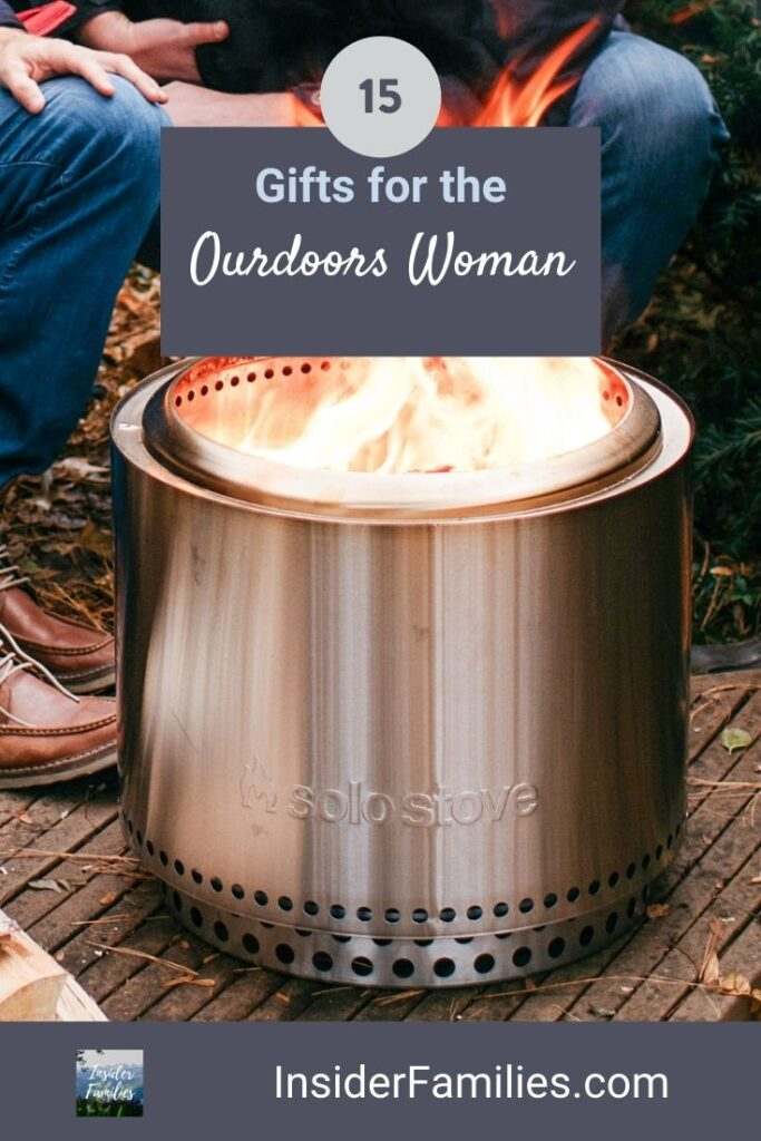 The Solo Stove is one of our top gifts for the outdoors woman