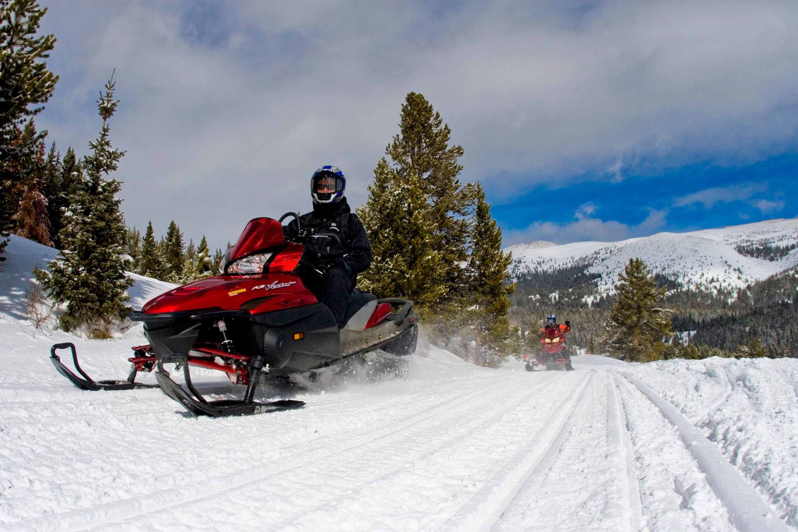 Colorado Snowmobiling Snow Fields And