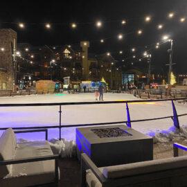 aspen snowmass ice skating at night