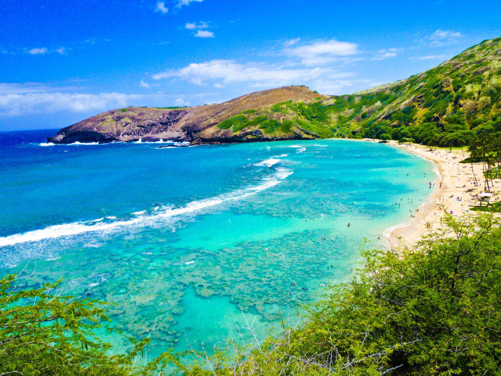 Some of the best snorkeling in Hawaii is in Oahu with beautiful clear waters