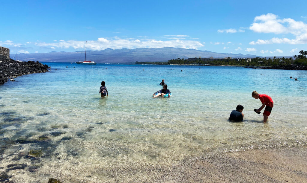 Visiting the may beautiful beaches tops the list of things to do in Kona Hawaii