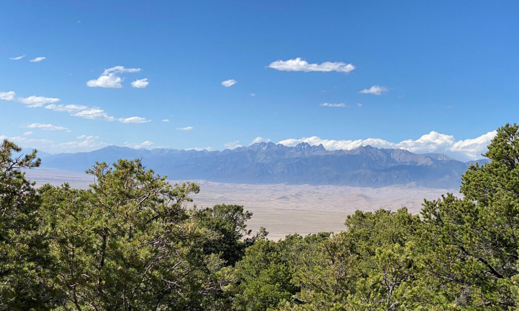 great sand dunes national park seen from afar