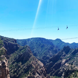 zip line royal gorge 1200 feet above the river below